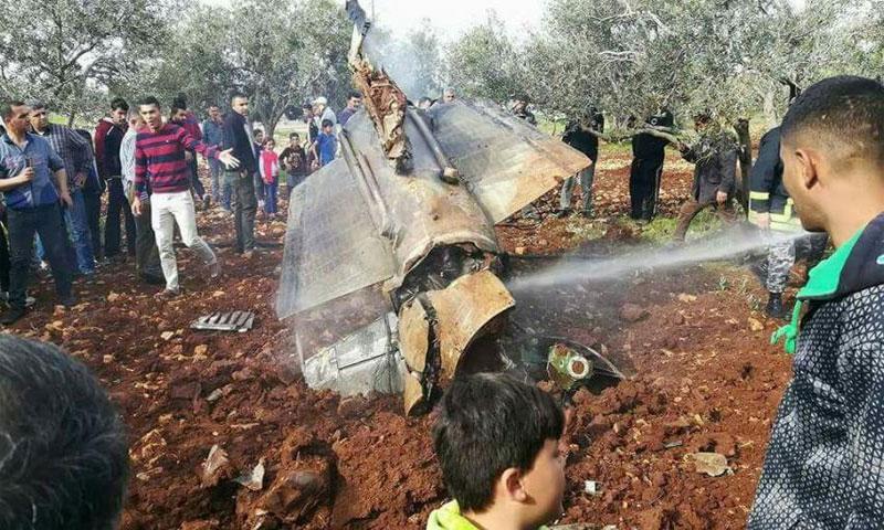 بقايا الصاروخ في الأردن(وكالة عمون الإخبارية)