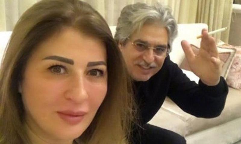 سيلفي عباس النوري بكاميرا زوجته عنود خالد (المدينة الاخبارية)