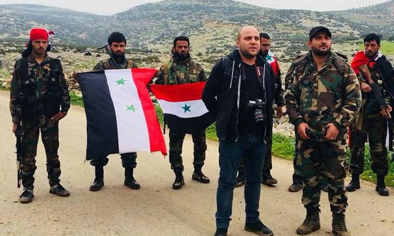 قوات شعبية تابعة للنظام السوري في عفرين-21 شباط 2018 (الإعلامي شادي حلوة فيس بوك)