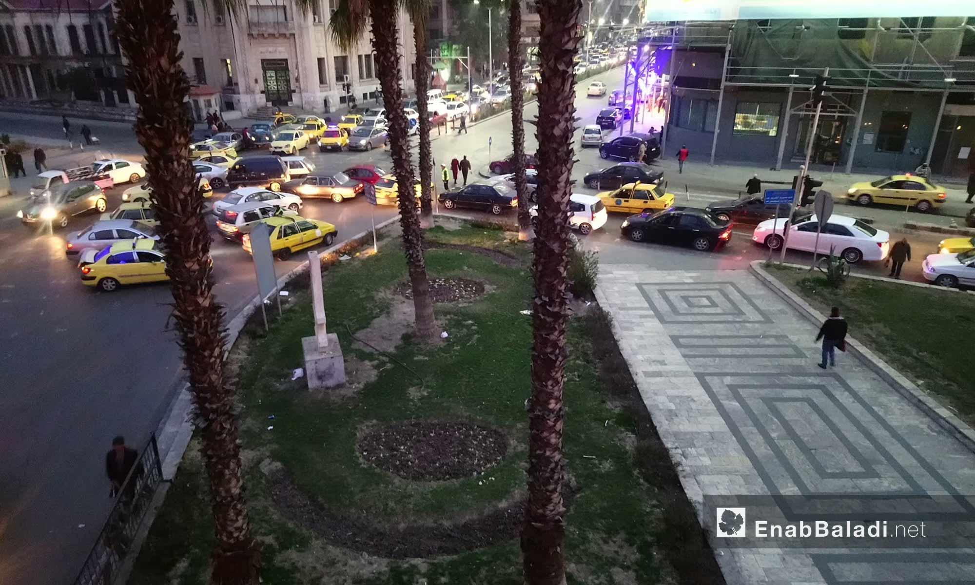 الطريق المؤدي إلى ساحة الحجاز في العاصمة دمشق - 4 شباط 2018 (عنب بلدي)