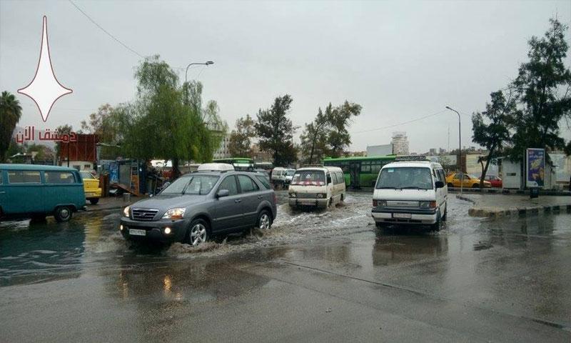 السيول في دمشق حي البرامكة (دمشق الآن)
