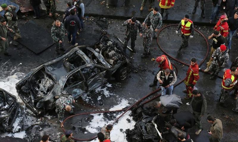 اغتيال رئيس الوزراء اللبناني رفيق الحريري - 14 شباط 2005 (AFP)