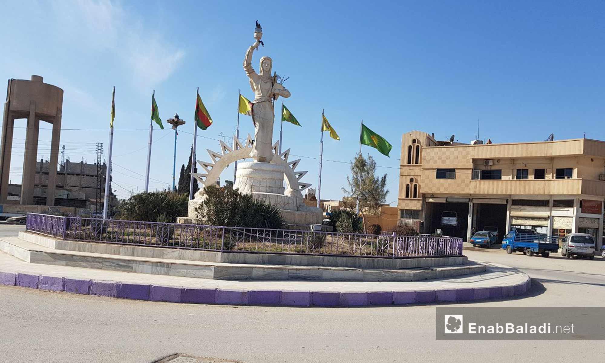 مدينة عامودا التابعة لمحافظة الحسكة شمال سوريا - 9 شباط 2018 (عنب بلدي)