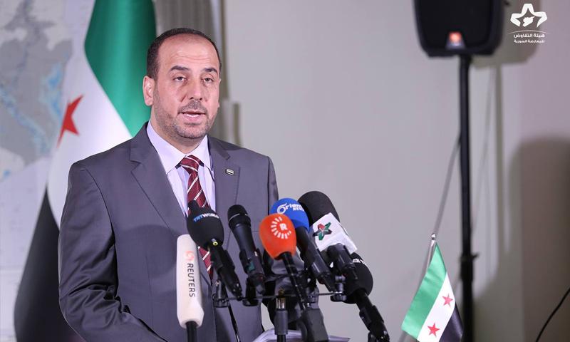 """رئيس """"هيئة التفاوض"""" نصر الحريري - 3 شباط 2018 (هيئة التفاوض في فيس بوك)"""