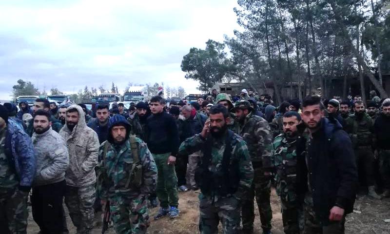 """قوات """"النمر"""" في دمشق - 17 شباط 2018 (قوات النمر في فيس بوك)"""