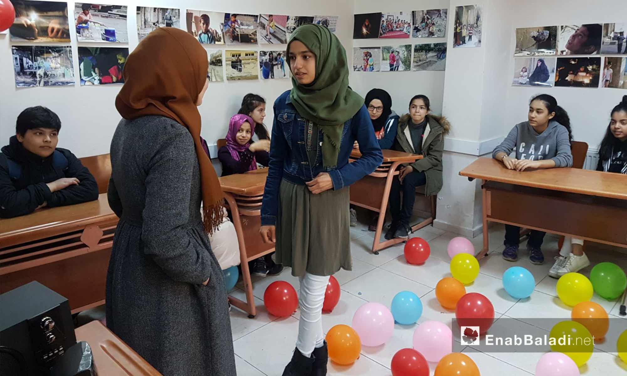 سوريات وأتراك شاركن بمبادرة مجتمعية في أورفة - 24 شباط 2018 (عنب بلدي)