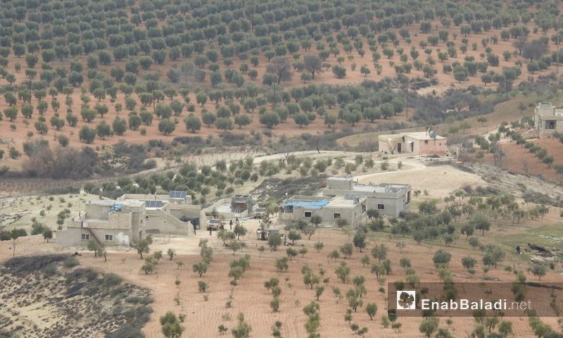 عنب بلدي ترصد المعارك على محور شران شمالي عفرين - 20 شباط 2018 (عنب بلدي)