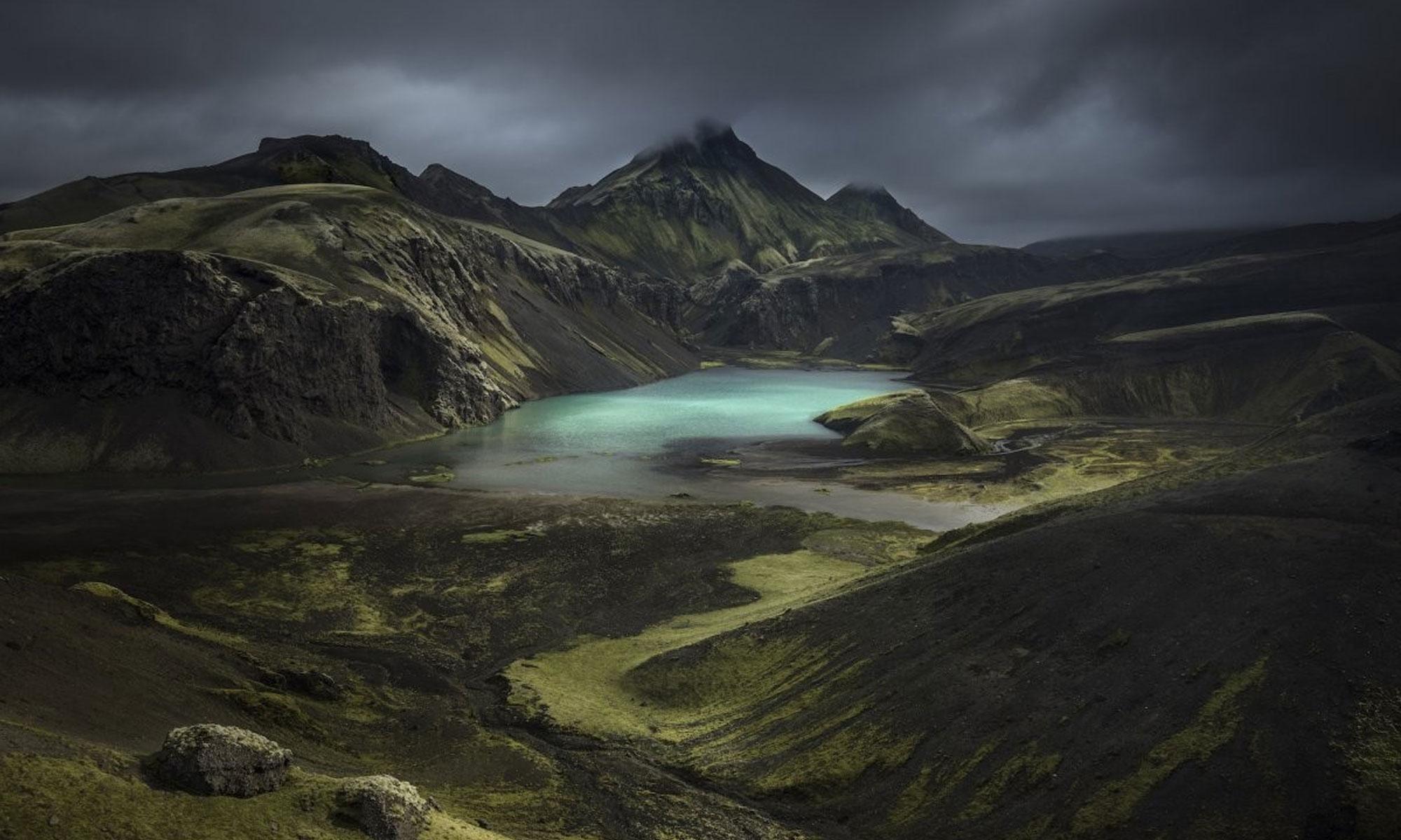 صورة التقطت من المرتفعات الجنوبية في أيسلندا