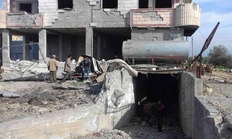 الفرن الآلي في مدينة الحراك شرقي درعا - 15 آذار 2018 (المجلس المحلي في الحراك)