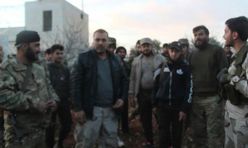 """القائد العام في """"جيش العزة""""، الرائد جميل الصالح عقب نجاته من محاولى الاغتيال في ريف حماة - 11 آذار 2018 (جيش العزة)"""