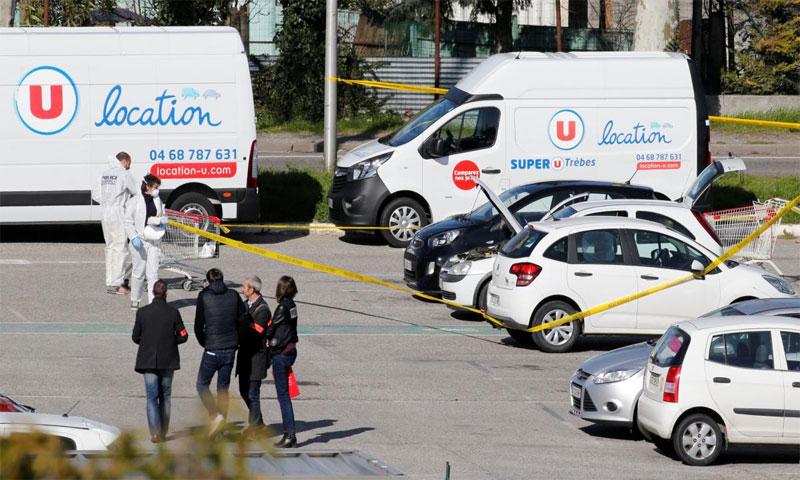 نظرة عامة بعد الهجوم في فرنسا الجمعة 23 آذار 2018(رويترز)
