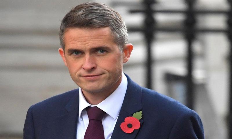 وزير الدفاع البريطاني، جافين وليامسون في تشرين الأول 2017(رويترز)