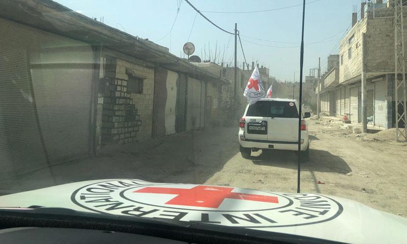 قافلة أممية داخل الغوطة الشرقية - 5 آذار 2018 (الصليب الأحمر)