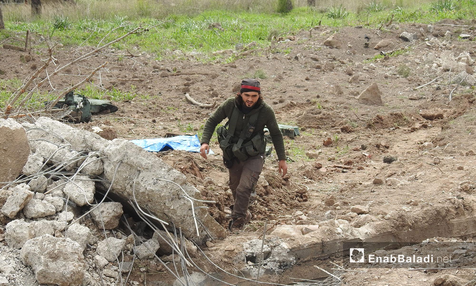 """معسكر كفر جنة بعد سيطرة """"الجيش الحر"""" عليه شمالي عفرين - 7 آذار 2018 (عنب بلدي)"""