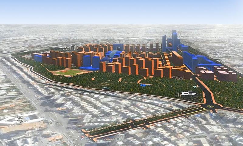 مشروع ماروتا سيتي في كفرسوسة (Marota city فيس بوك)