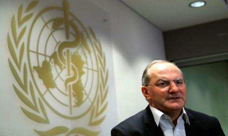 بيتر سلامة المدير التنفيذي لبرنامج الطوارئ الصحية بمنظمة الصحة العالمية في جنيف - 2 آذار 2018 (رويترز)