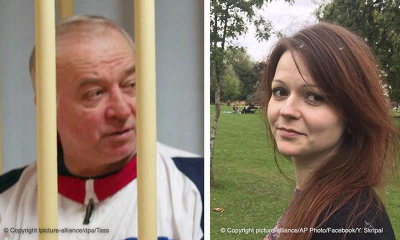 الضابط الروسي المتقاعد سيرغي سكريبل وابنته يوليا (AP-DPA)