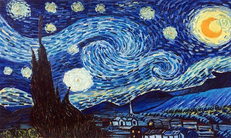 """لوحة """"Starry Night"""" لفينسنت فان غوخ"""