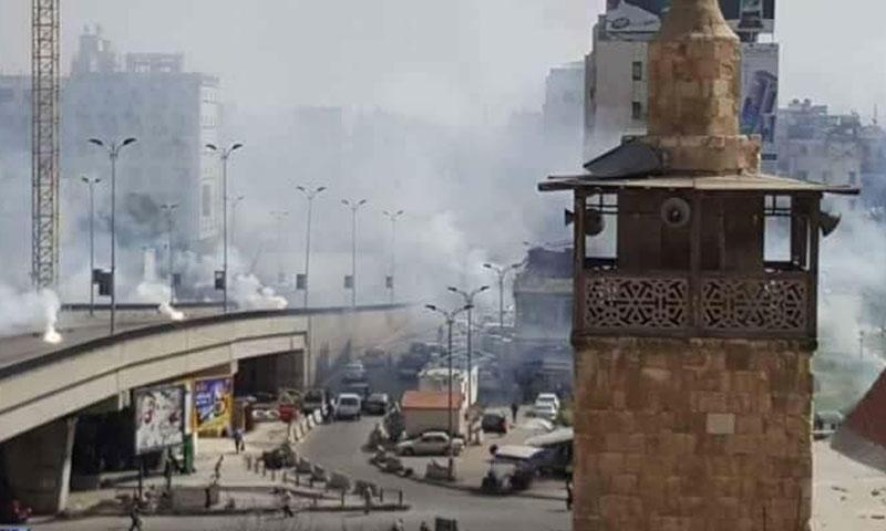 حرائق بسبب قصف استهدف شارع الثورة وسط دمشق - 22 آذار 2018 (ناشطون)
