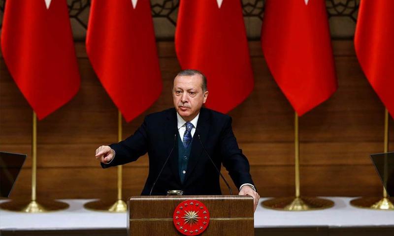 الرئيس التركي رجب طيب أردوغان - آذار 2018 (TRT)