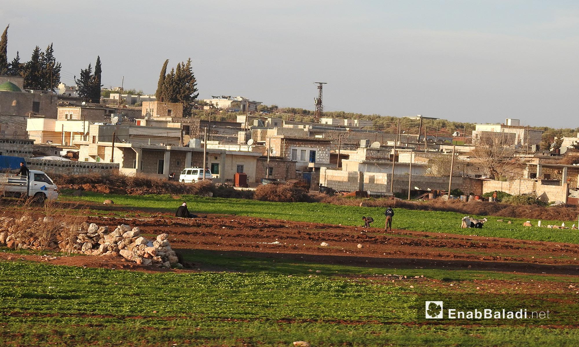 جولة على الطريق بين قرى جلبل ومريمين وأناب في عفرين - 11 آذار 2018 (عنب بلدي)