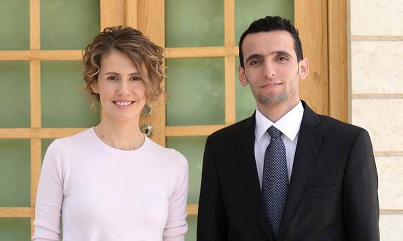 مدير شبكة دمشق الآن وزوجة رئيس النظام السوري أسماء الأسد (وسام الطير)