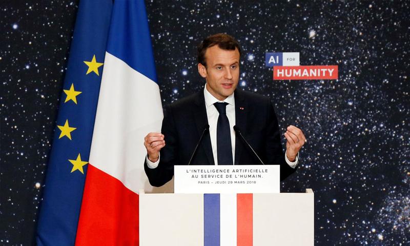الرئيس الفرنسي، إيمانويل ماكرون (AFP)