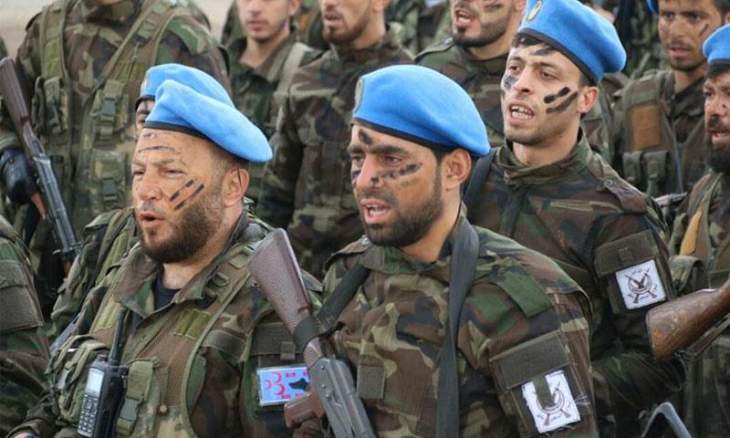 مقاتلون من لواء المنتصر بالله شمالي حلب - 25 شباط 2018 (صفحة اللواء في فيس بوك)