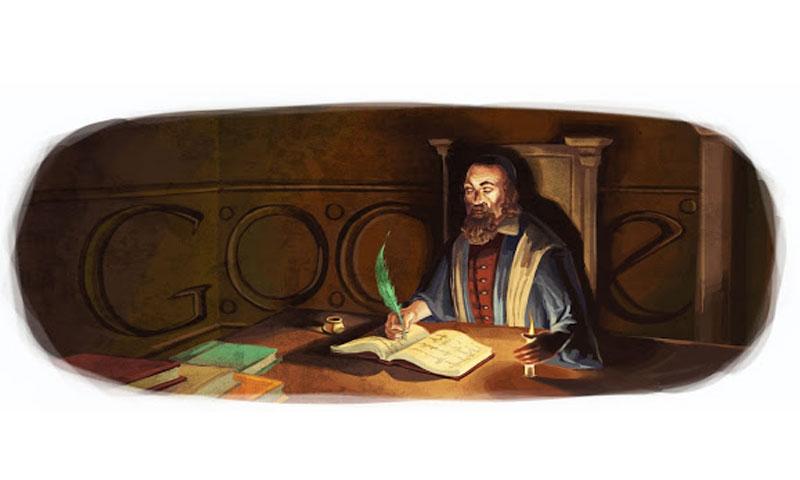"""الشعار الذي احتفلت من خلاله """"جوجل"""" بجون عاموس كومنيوس (Google)"""