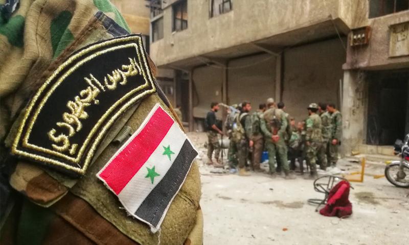 عناصر من الحرس الجمهوري في الغوطة الشرقية - آذار 2018 (وسيم عيسى)