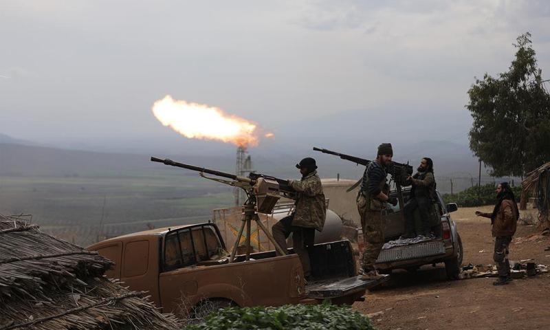 عناصر من الجيش الحر في محيط عفرين - 17 شباط 2018 (خليل الشاوي)