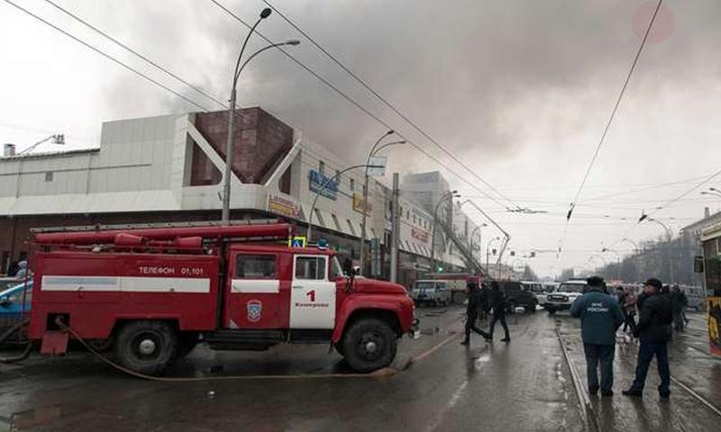 حريق في مركز تجاري في روسيا- 25 آذار 2018 (روسيا اليوم)