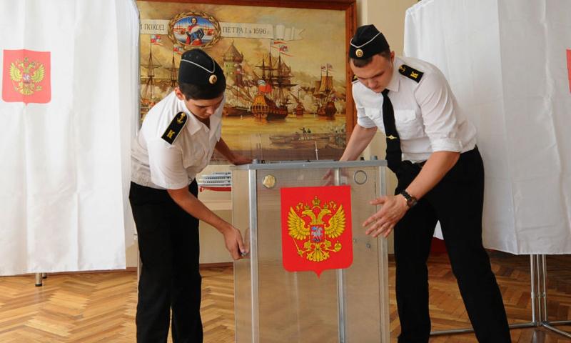 صناديق اقتراع على الانتخابات الرئاسية الروسية (Sputnik)
