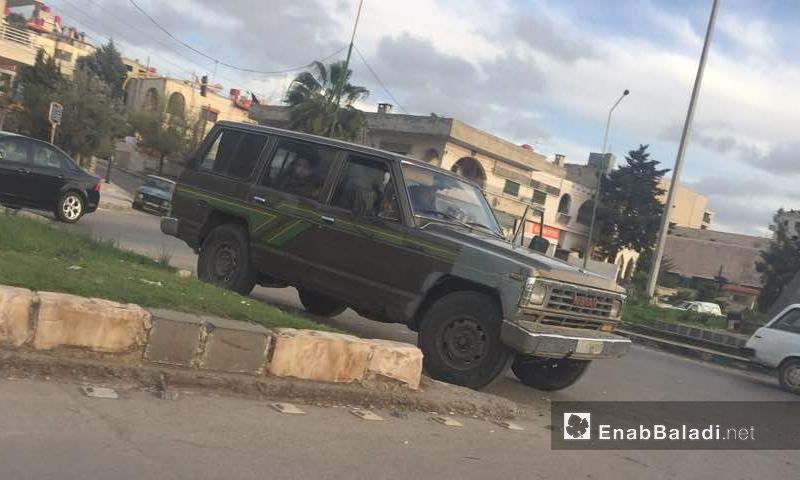 انتشار أمني بين مدينتي شهبا والسويداء جنوبي سوريا - آذار 2018 (عنب بلدي)