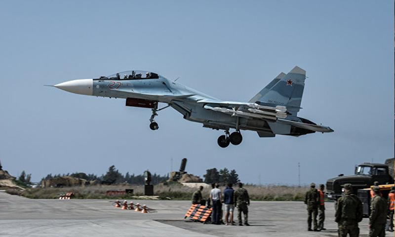 قوات جوية روسية في قاعدة حميميم العسكرية بسوريا (ريا نوفوستي)