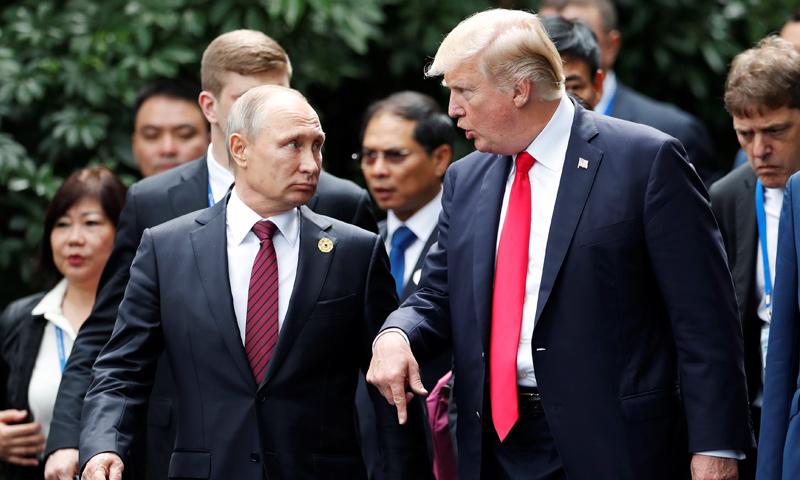 الرئيسان الأمريكي دونالد ترامب والروسي فلاديمير بوتين (AFP)