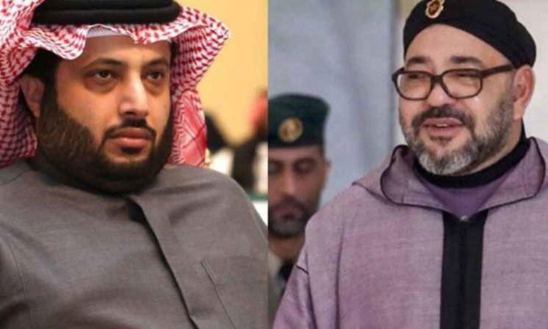 الملك محمد السادس و تركي آل الشيخ (القدس العربي)
