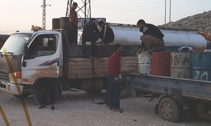 شاحنات وقود في ادلب تابعة لشركة وتد (شركة وتد فيس بوك)