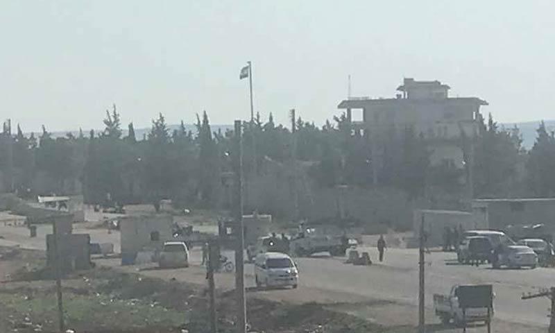 """تحركات لقوات الأسد شمالي حلب لتسلم المناطق من """"الوحدات"""" - 12 آذار 2018 (تويتر)"""