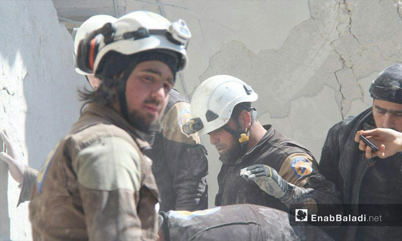 الرفاع المدني في إدلب (عنب بلدي)
