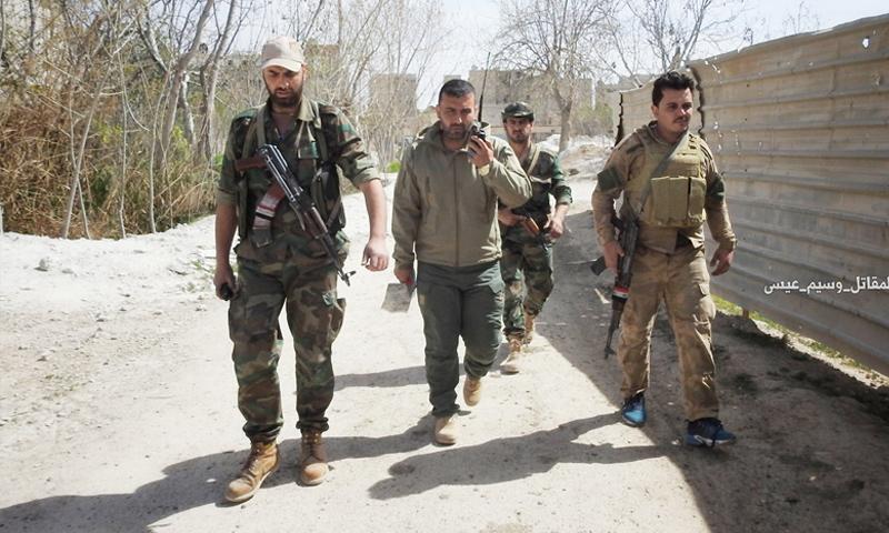 عناصر من قوات الأسد في الغوطة الشرقية - شباط 2018 (وسيم عيسى)