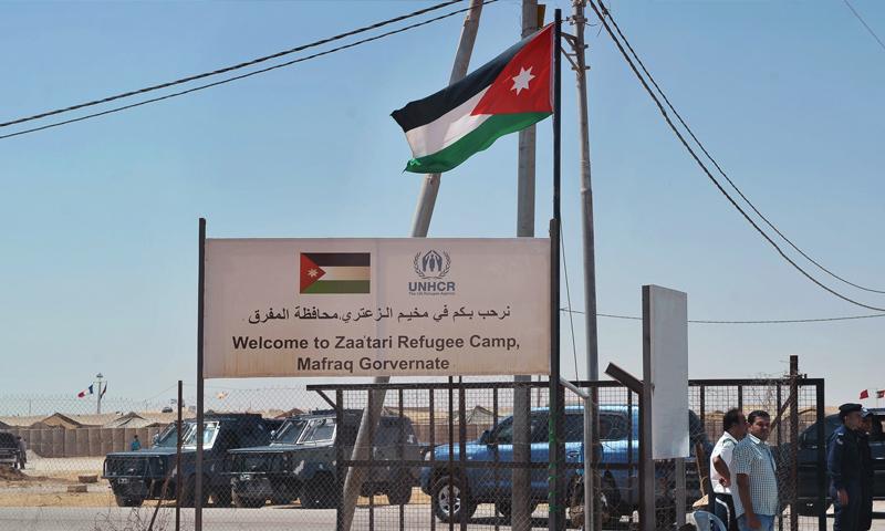 مخيم الزعتري للاجئين السوريين في الأردن (AFP)