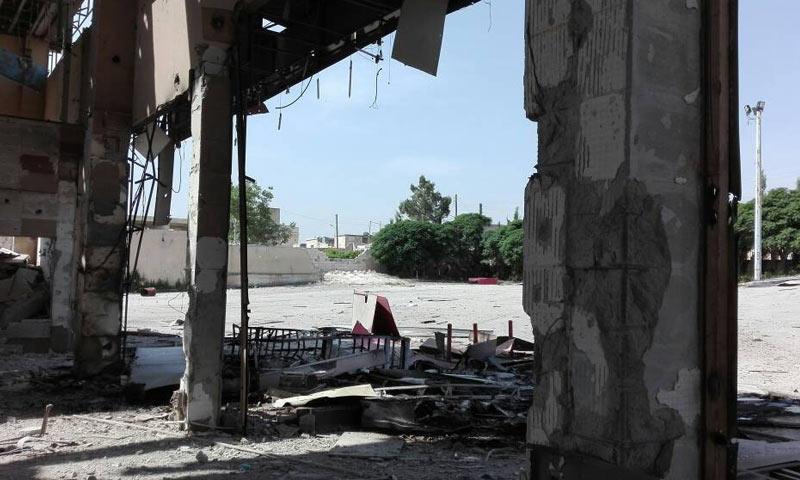 صور بعض المواقع المستهدفة في سوريا - 30 من نيسان 2018 (يو تيوز)