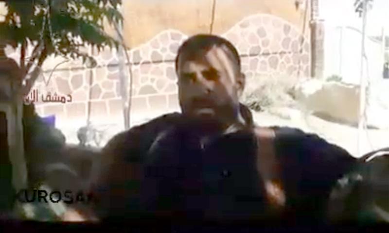 """قائد لواء """"مغاوير الصحراء"""" في الضمير، محمد أحمد شعبان- 17 من نيسان 2018 (فيس بوك)"""
