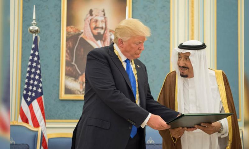 الرئيس الأمريكي دونالد ترامب والعاهل السعودي سلمان بن عبد العزيز (CNN)