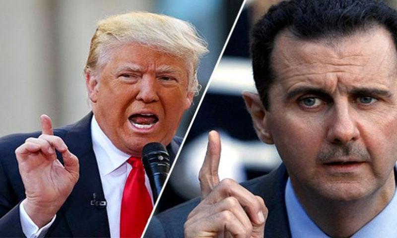 دونالد ترامب وبشار الأسد (إنترنت)