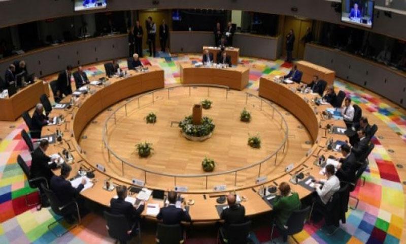 قادة الدول والحكومات الأوروبية يجتمعون في اليوم الثاني من قمة الاتحاد الأوروبي في مقر المجلس الأوروبي في بروكسل - 23 آذار 2018(AFP)