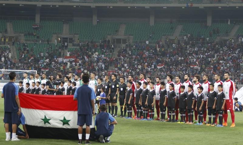 من مبارة سوريا والعراق في دور الصداقة (AFP)
