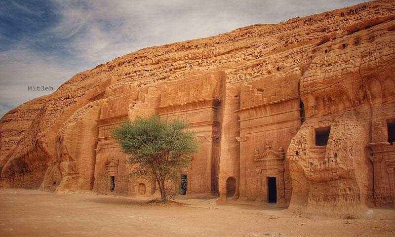 أحد آثار منطقة العلا في السعودية (انترنت)
