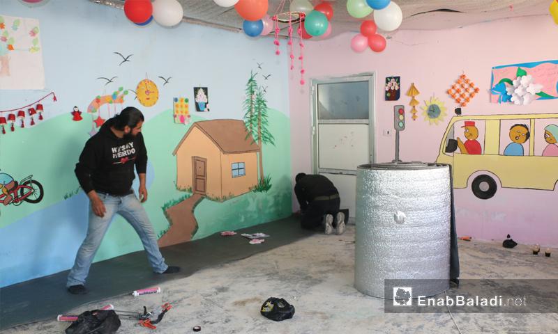 حملة عيش الطفولة لمنع تسرب الأطفال من مدارس ريف إدلب الغربي واللاذقية - 8 نيسان 2018 (عنب بلدي)